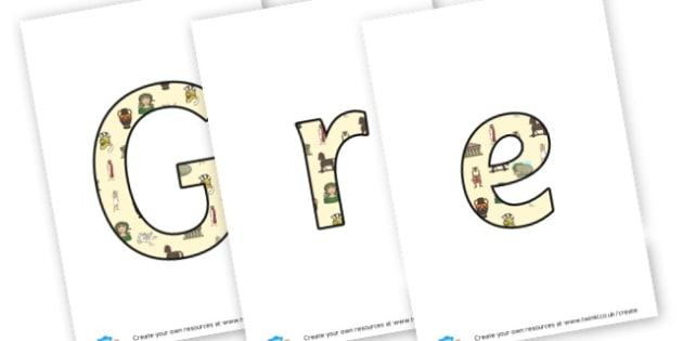 Greek Myths - Display Lettering
