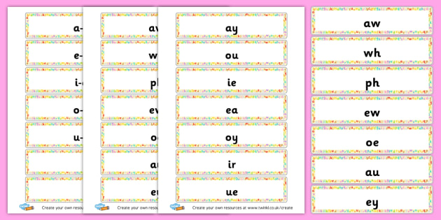Split Digraph Word Cards - General Literacy Primary Resources, Literacy, English, Display, EY