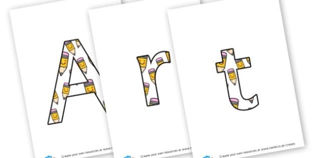Art Week - display lettering - Organised Events & Awareness Days/Weeks Children's Art Week Primar