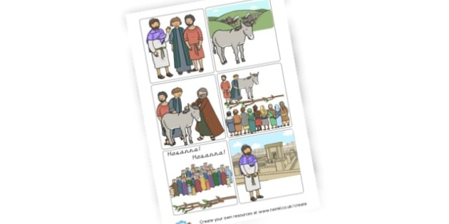 Jesus goes to Jerusalem Cards - Bible Stories Primary Resources, bible, christianity, religion