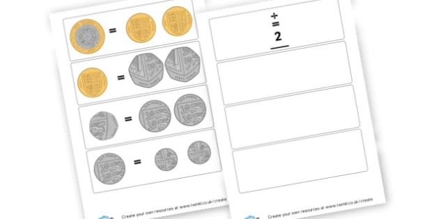 Coin value cards - Money & Coins Visual Aids Primary Resources -  Primary Resources