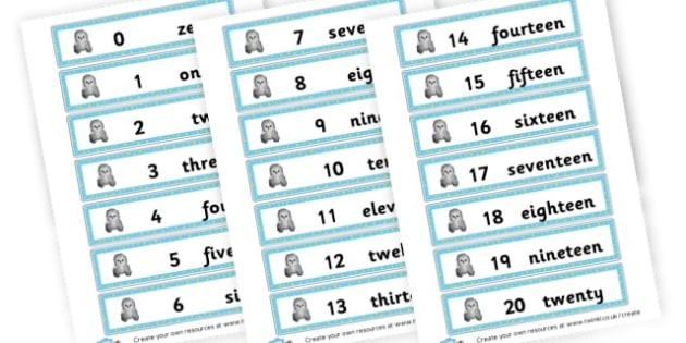 Number Words Cards - Number Words Primary Resources, numbers, maths, math, numeracy