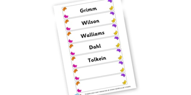 Author Labels - Reading Display Primary Resources, Reading, Books, Stories, Read