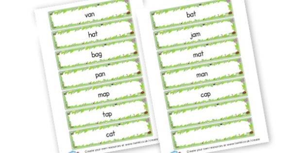CVC A Word Cards - CVC Words Primary Resources, CVC, consonant, vowel, CVC word