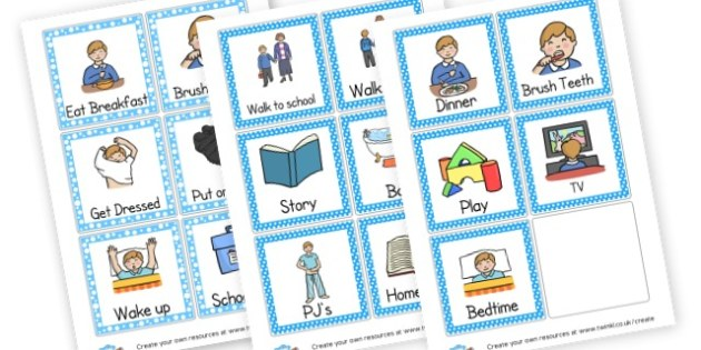 Visual - Visual Timetables, Resource, Home School, How to Discipline, home