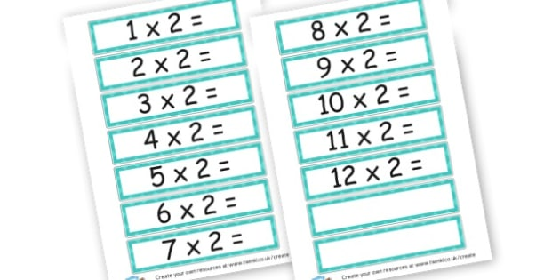 2 Times Table Cards - Times Tables Primary Resources, multiply, times, number of, games, Times, Table, times table, times tables, Tabe
