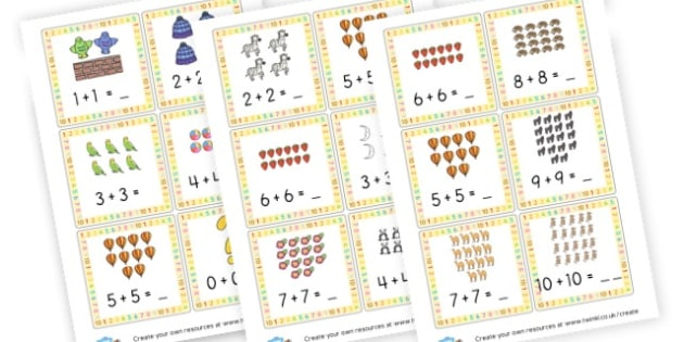 Double up to 20 Cards - Calculation Primary Resources, maths, add, subtract, calculation