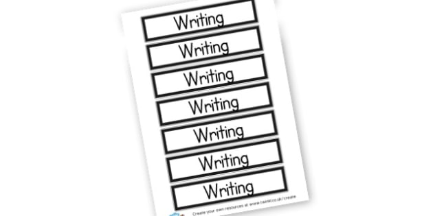 Writing Book label - Classroom Signs & Label Primary Resources, labels, posters, rules