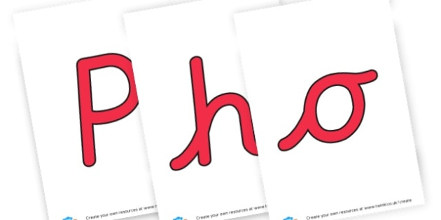 Phonics - display lettering - Literacy Phonics Primary Resources -  & English Primary Resources