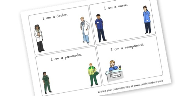 People Who Help Us Hospital/Doctors - Hospital Role Play Primary Resources, people who help us, nurse