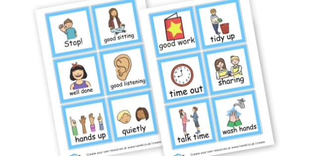 Behaviour Cards - Rules and Behaviour Aids Primary Resources, Rules, Behaviour Aids