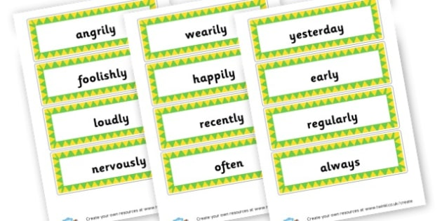 Mixed Adverbs Cards - KS2 Verbs and Adverbs Primary Resources, Verbs, Adverbs, KS2 Words