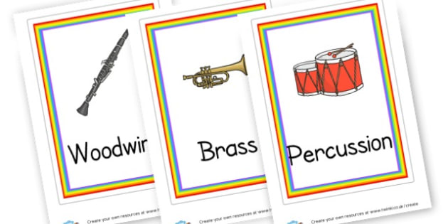 Orchestra Families (A4) Cards - Music Display Primary Resources -  Primary Resources, musical ins