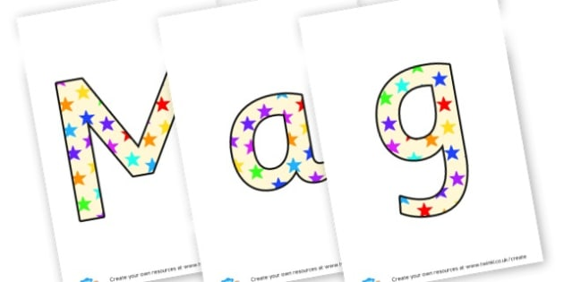 Magic Key - display lettering - Display Lettering Primary Resources, cut out, letters, display