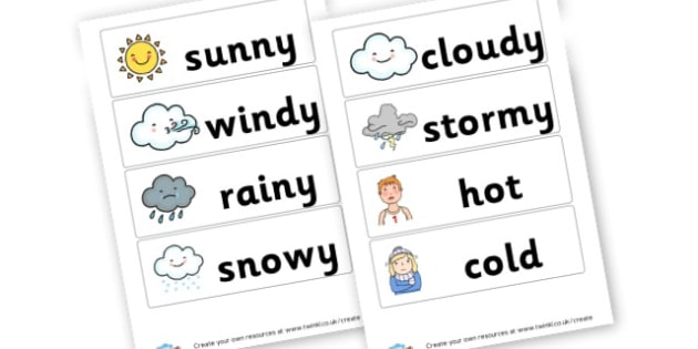 Weather Vocabulary Cards - Weather Literacy Primary Resources,Weather,Primary,Literacy,Words