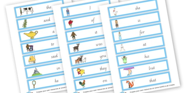 Traditional Tales Themed 100 Common Words - Next 200 Common Words Primary Resources, Letters, sounds, phonics