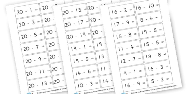 math worksheet : subtraction number sentences to 30  subtraction primary : Subtraction Sentences