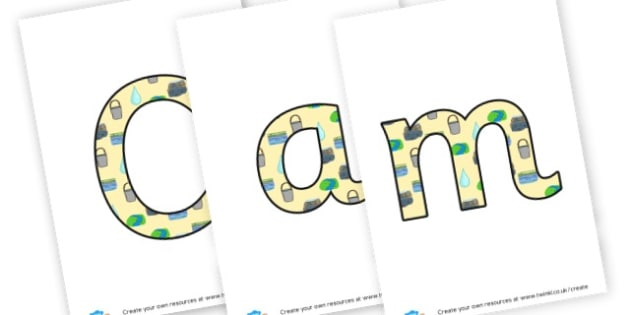 camp - display lettering - Camping & Campsite Primary Resources, role play, holiday, tent