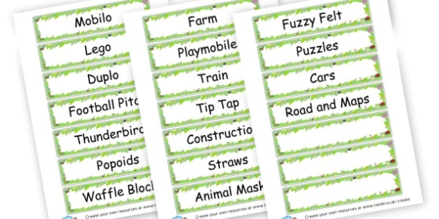 Minibeast Classroom Equipment Labels - Classroom Signs & Label Primary Resources, labels, posters, rules