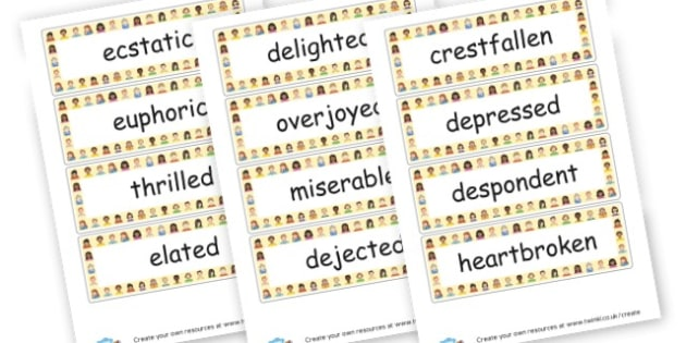 Emotions Word Cards - My Emotions Labels Primary Resources, education, home school