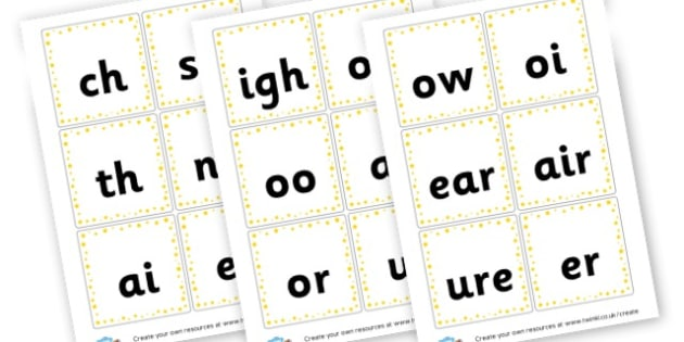 Phase 3 Phonic Sounds Cards - Letters and Sounds Phase 3 Primary Resources, Phase Three, phonics