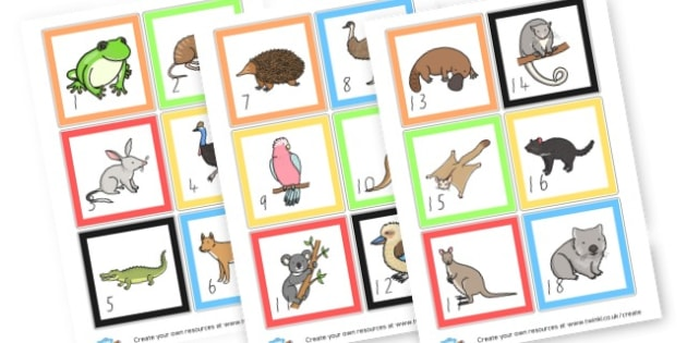 Numbered Cards - Animals Numeracy Primary Resources,  Numeracy, Maths,  Animals