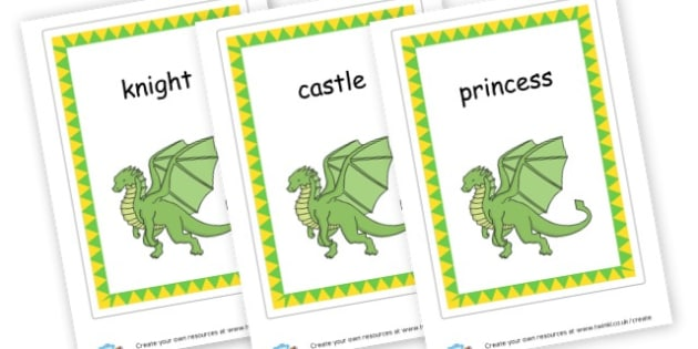 Castle Pictures Cards - Castles & Knights Display Primary Resource,Primary,Castles,Knights