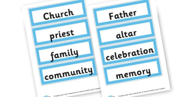 RE Vocabulary Cards - Christianity, Literacy,  Primary Resources, religion, faith, chri