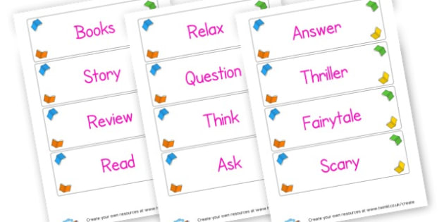 Reading Area Vocabulary - Reading Area Primary Resources, signs, area, zones, banner, poster