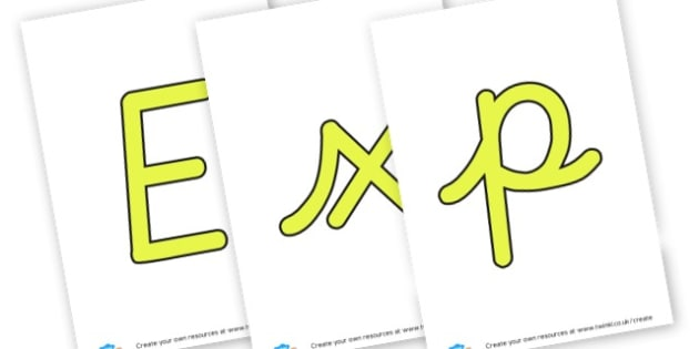 Explore Lettering - Outdoor Area Primary Resources, outdoors, PE, signs, visual aids