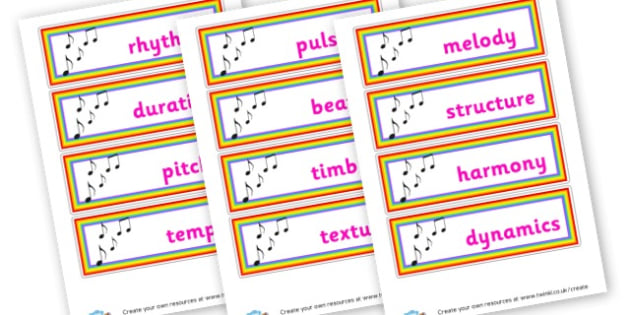 Music Words Cards KS2 - Music Keywords Primary Resources, letters, phonics, sounds, dfes
