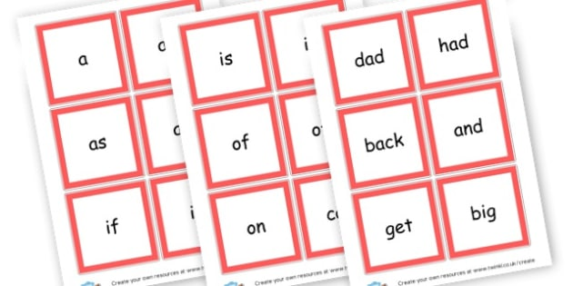 High Frequency Phase 2 Cards - Phase 2 Visual Aids Primary Resources, Phase One, Letters, sounds