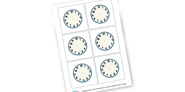 Blank Clock Faces - display lettering - KS2 Time Primary Resources, Time, Passing Time, Time Conversion