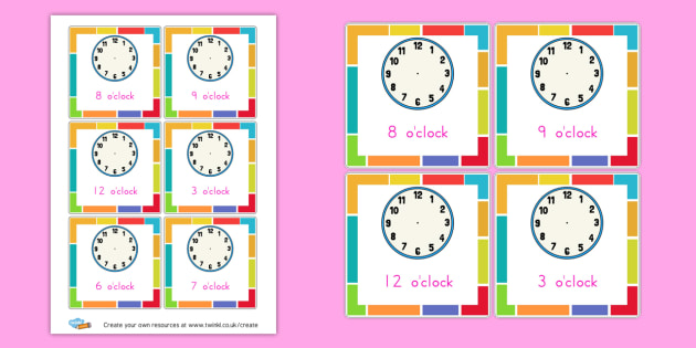 Make the o'clock Time Cards - KS2 Time Worksheets Primary Resources, Time Worksheets, Clock, KS2