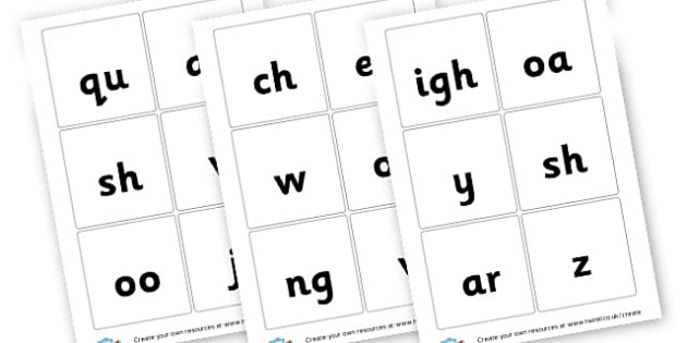 Phase 3 Grapheme Bingo - Phase 3 Activities Primary Resources, Phase One, Letters, sounds