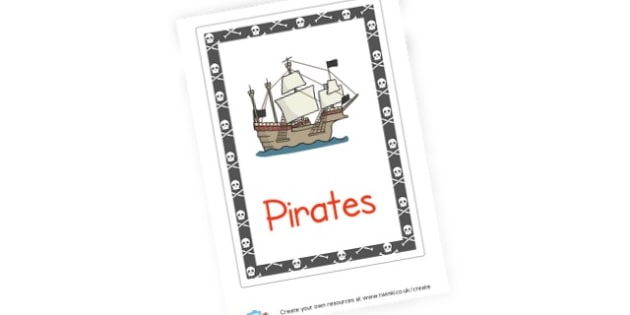 Pirates Topic Book Cover - Pirates Literacy Primary Resources, pirate, words