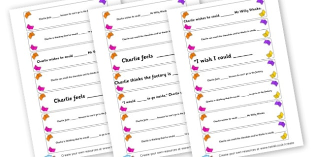 Charlie synonyms - display lettering - Charlie and the Chocolate Factory Primary Resources, Roald Dahl, charlie & the chocolate factory