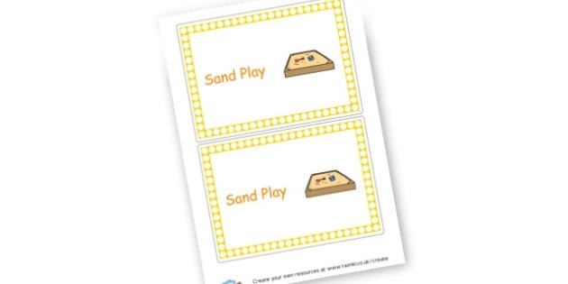 Sand Play - Sand Area Primary Resources, numeracy, signs, labels, visual aids, areas, zones, banner, poster, Early Years (EYFS), KS1 & KS2 Primary Teaching Resources