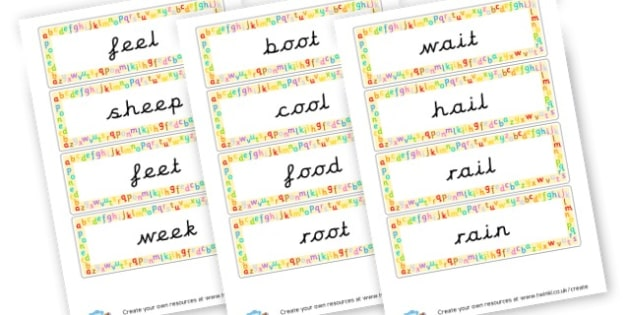 Phase 3 Sounds ee,oo,oa,ai,or,ar - Phase 3 Visual Aids Primary Resources, Phase One, Letters, sounds