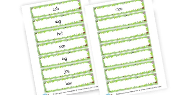 CVC O Word Cards - CVC Words Primary Resources, CVC, consonant, vowel, CVC word