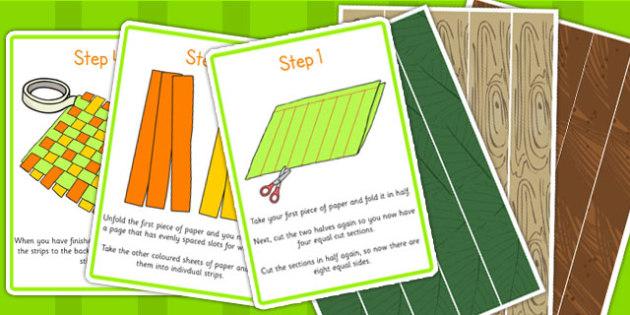Woodland Paper Weaving Activity - woodland, forest, activities