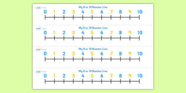 Numbers 0-10 on Number Line (odds and evens) - Counting, Numberline, Number line, Counting on, Counting back, Odds and Evens, Counting Odds, Counting Evens