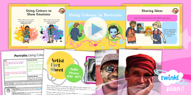 Art: Portraits: Using Colours in Portraits KS1 Lesson Pack 2