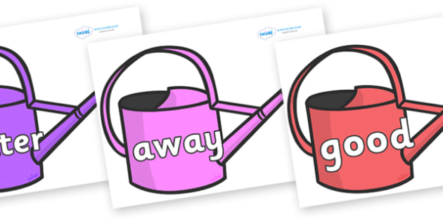 Next 200 Common Words on Watering Cans - Next 200 Common Words on  - DfES Letters and Sounds, Letters and Sounds, Letters and sounds words, Common words, 200 common words