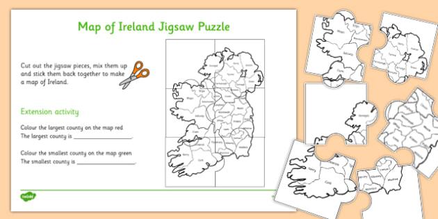 Map of Ireland Jigsaw Puzzle Beginner - roi, irish, republic of ireland, map, ireland, jigsaw, puzzle