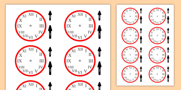 Roman Numerals Clocks Cut Outs - roman numerals, clocks, cut outs, roman, numerals