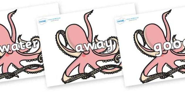 Next 200 Common Words on Octopuses - Next 200 Common Words on  - DfES Letters and Sounds, Letters and Sounds, Letters and sounds words, Common words, 200 common words