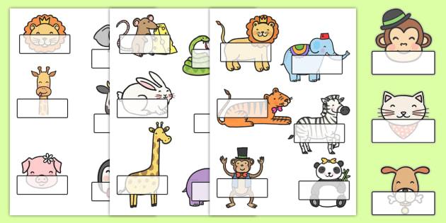 Cute Animals Self Registration - animal, self reg, cute, self-reg