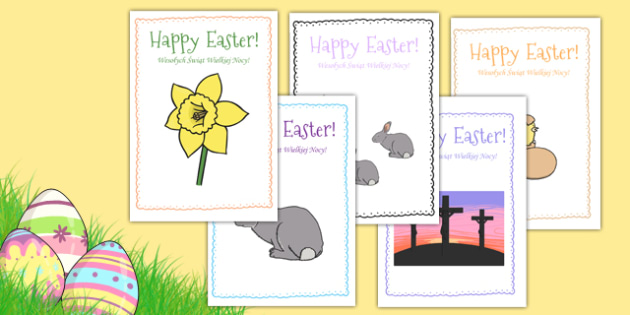 Easter Card Templates Polish Translation - polish, Design, Easter card, Easter activity, card, fine motor skills, card template, bible, egg, Jesus, cross, Easter Sunday, bunny, chocolate, hot cross buns