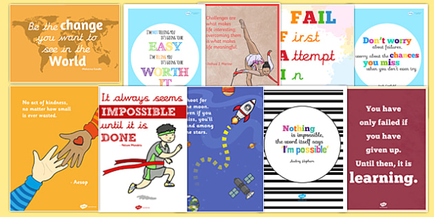 Top 10 Motivational Classroom Posters Display Pack